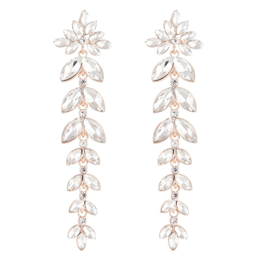 Rose Gold Graduated Navette Earring