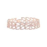 Rose Gold Diamante Petal Bracelet - link has visual effect only