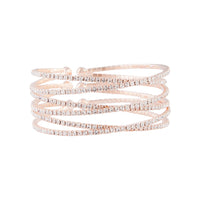 Rose Gold Diamante Zig Zag Cuff
