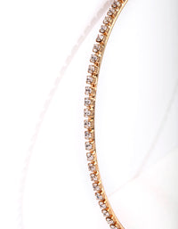 Gold Large Diamante Hoop Earring - link has visual effect only