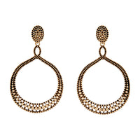 Antique Gold Teardrop Etched Earring - link has visual effect only