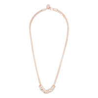 Rose Gold Mesh With Glitter Ring Necklace - link has visual effect only