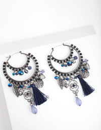 Blue Drop Earrings - link has visual effect only