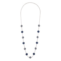 Navy Gunmetal Wrapped Bead Station Necklace | Necklaces | Lovisa Jewellery Australia | Gift Idea Girl