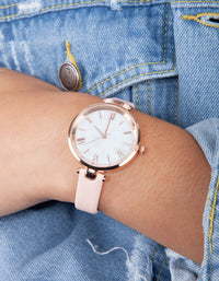 Pink Pearl Roman Watch - link has visual effect only