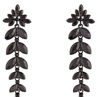 Black Graduated Floral Gem Drop Earring | Earrings | Lovisa Jewellery Australia | Gift Idea Girl