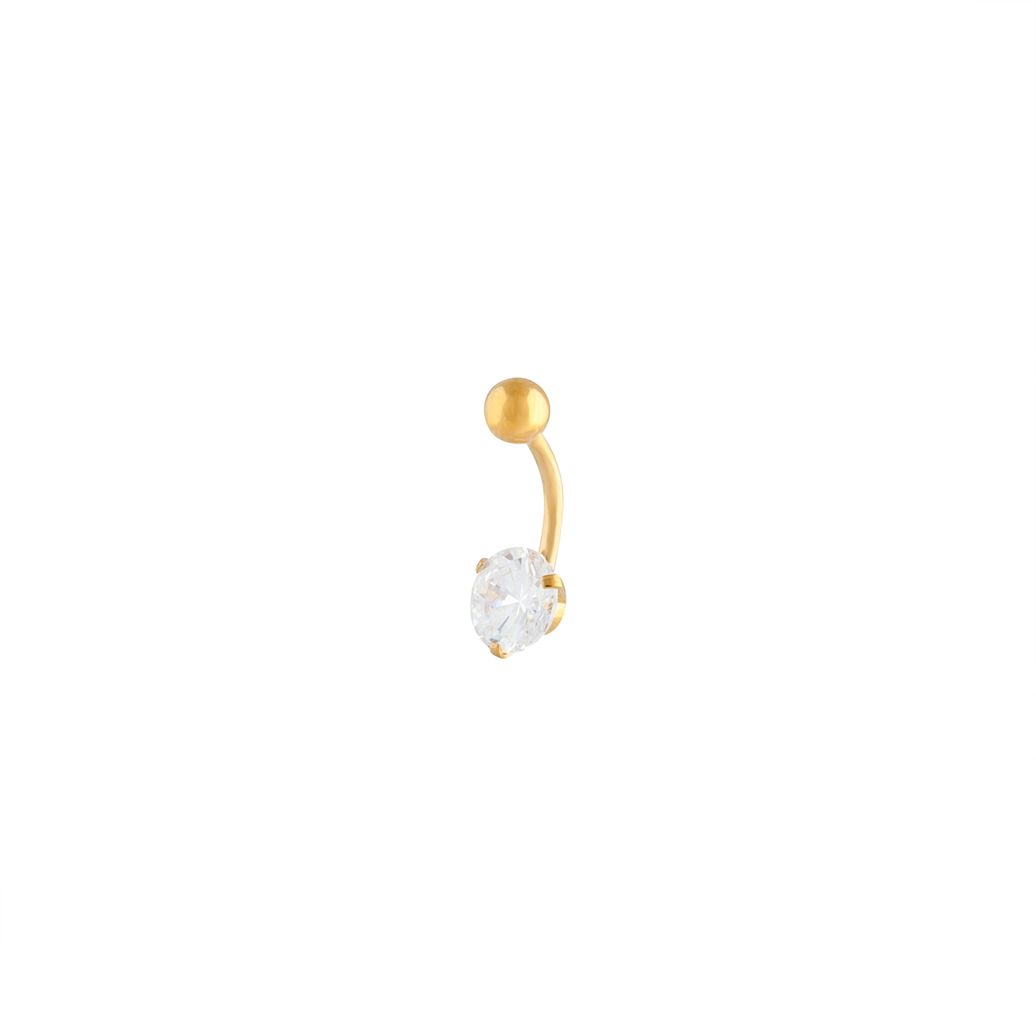 Gold Stone Claw Belly Bar