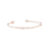 Rose Gold Fine Plaited Cuff