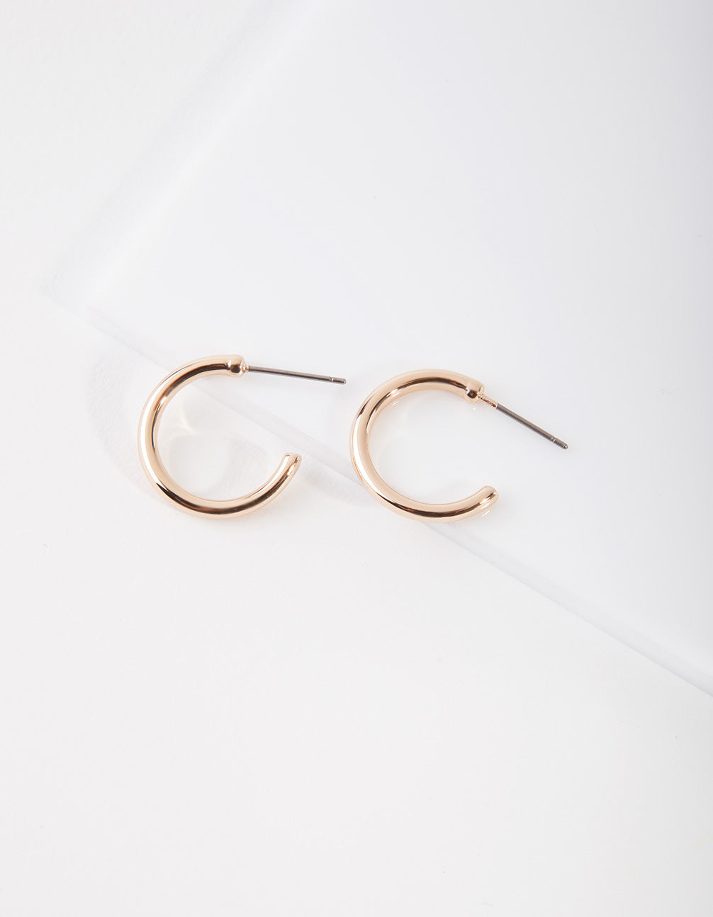 Gold Small Thick Hoop Earring