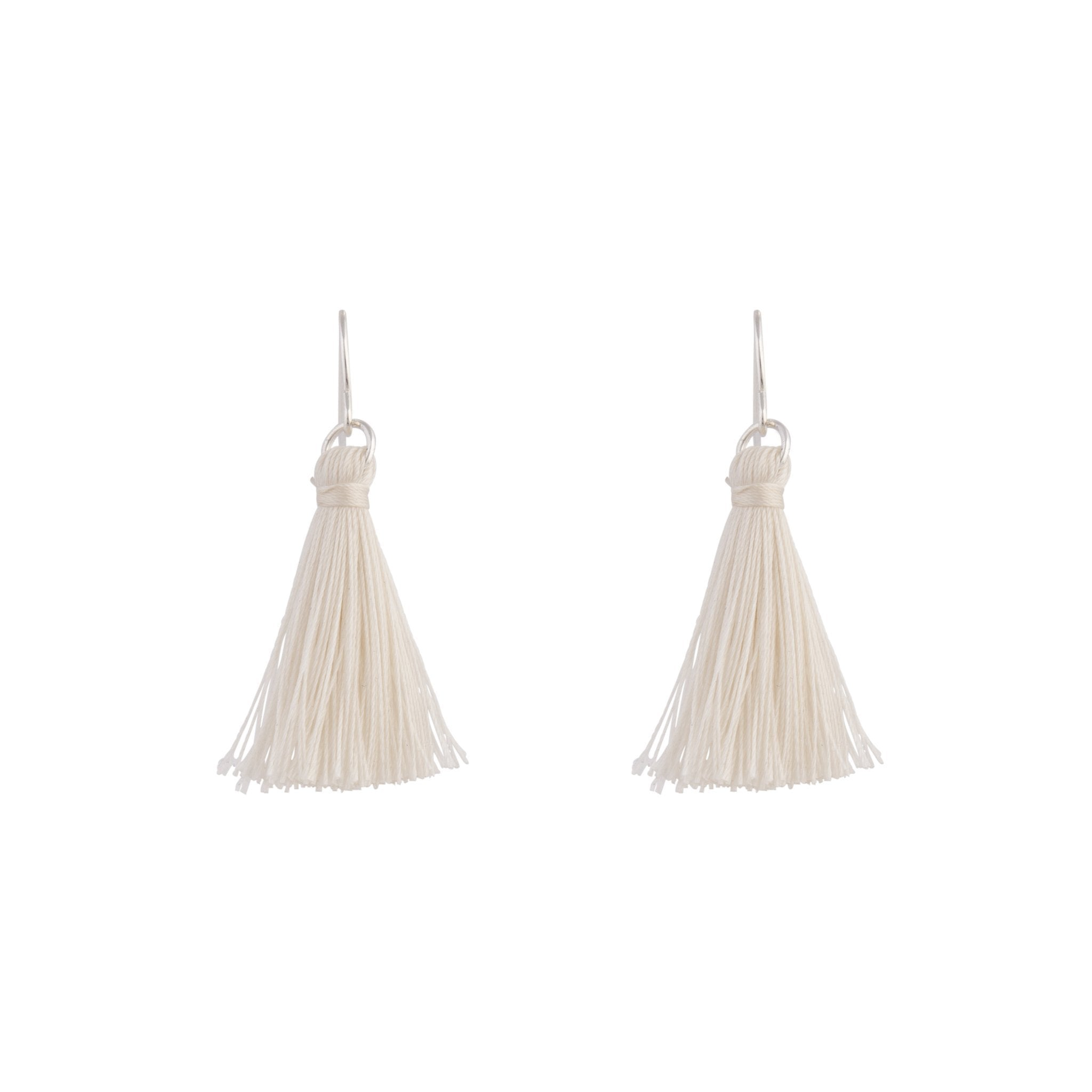 Silver Mini Tassel Earrings