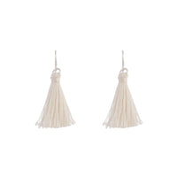 Silver Mini Tassel Earrings - link has visual effect only