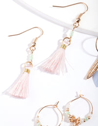 White Feather Earring 3 Pack - link has visual effect only