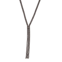 Gunmetal Cup Chain Y Neck Necklace