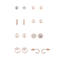 Rose Gold 8 Pack Stud Earrings - link has visual effect only