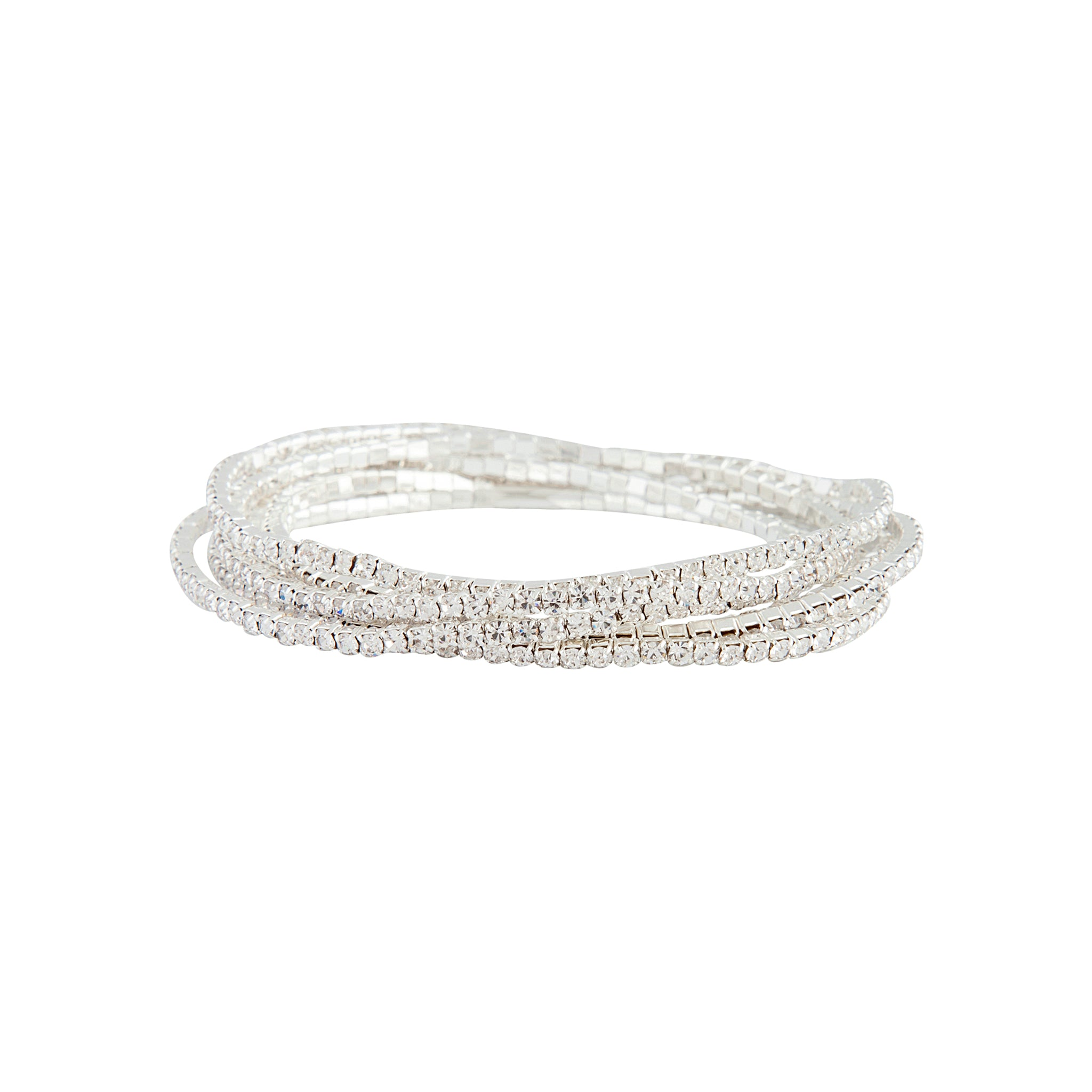 Silver Fine Cup Chain Stretch Bracelet Pack