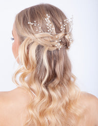 Organic Pearly Comb Drape Clip - link has visual effect only