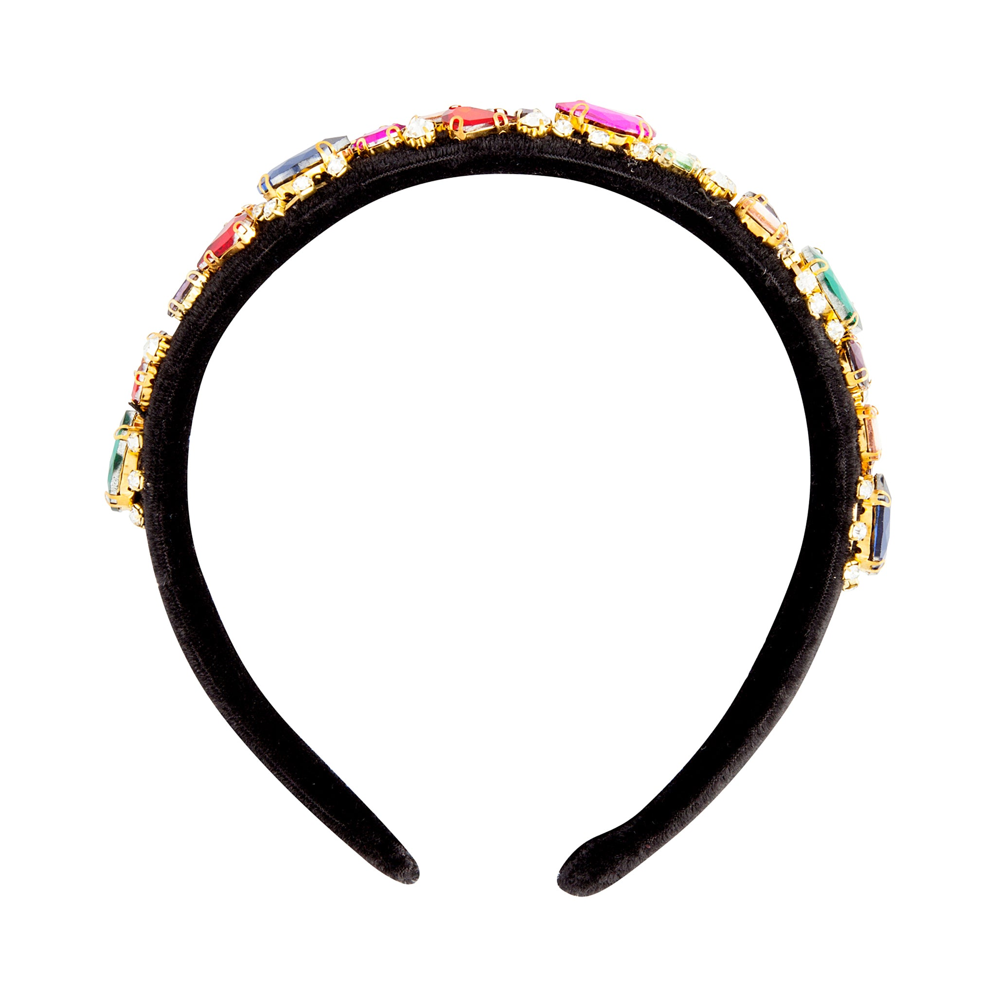 Fuzzy Multi-Coloured Jewel Headband