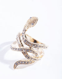 Gold Diamante Snake Ring - link has visual effect only