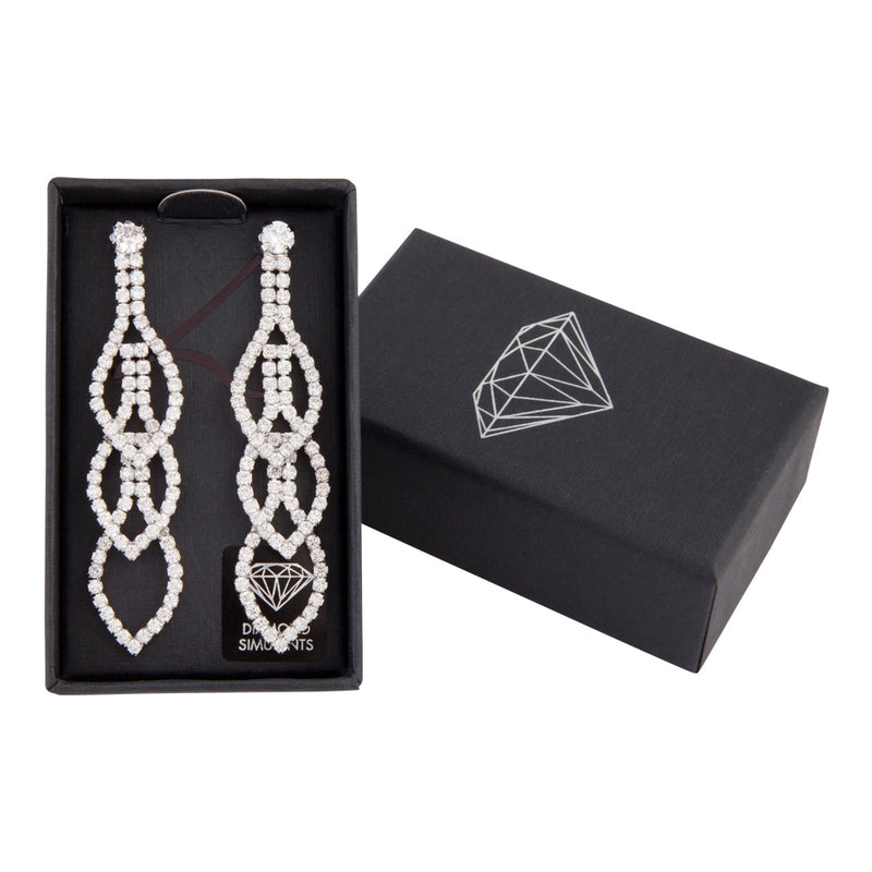 Statement Tiered Crystal Drop Earring