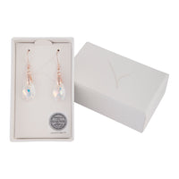 Faceted Aurora Borealis Rose Gold Drop Earring - link has visual effect only
