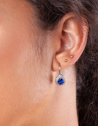 Sapphire Teardrop Earring - link has visual effect only