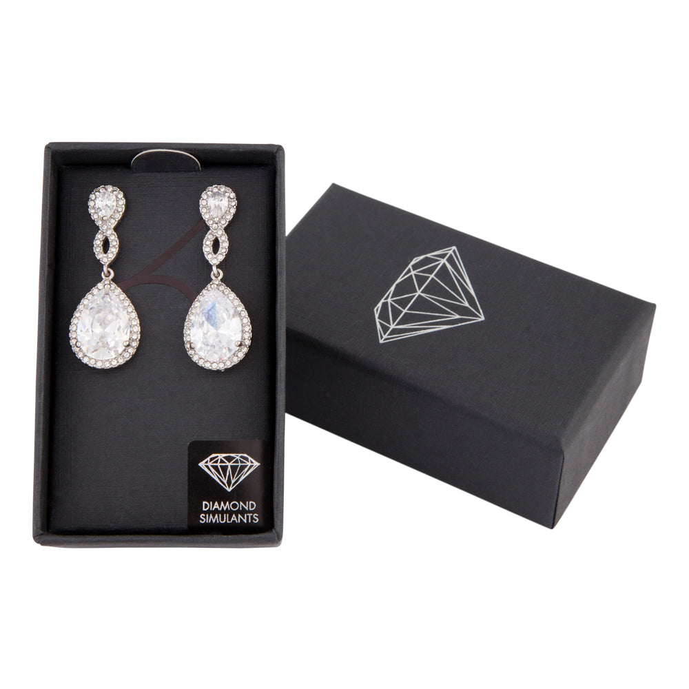 Crystal Twist Teardrop Earring