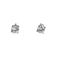 1Ct Round Crystal Stud