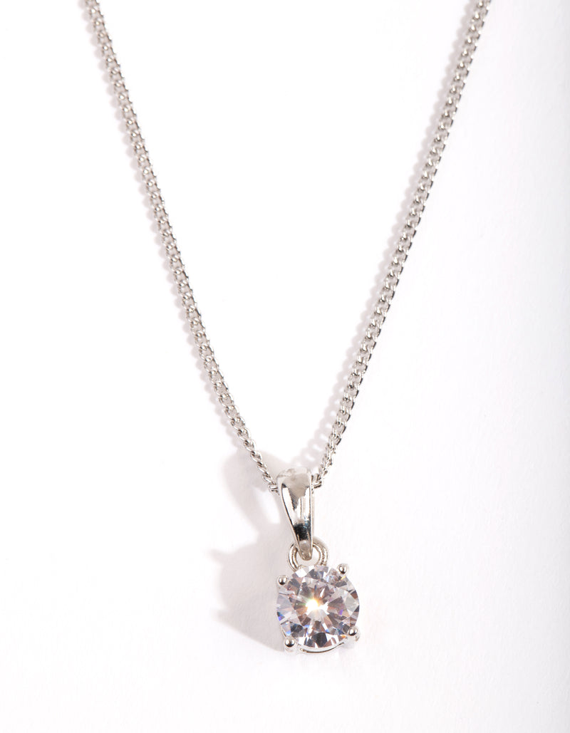 1Ct Crystal Pendant Necklace