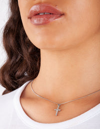 Crystal Cross Necklace | Necklaces | Lovisa Jewellery Australia | Gift Idea Girl