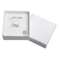 Crystal Infinity Necklace And Earring Set - link has visual effect only