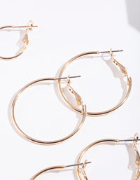 Gold Multi Size Hoop Earring 3 Pack - link has visual effect only