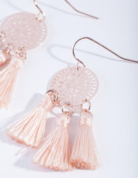 Rose Gold Dreamcatcher Tassel Earring - link has visual effect only