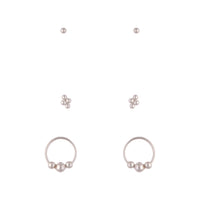 Sterling Silver Ball Cluster Earring 3 Pack - link has visual effect only