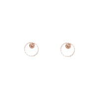 Rose Gold Geometric Circle Diamante Stud Earring | Earrings | Lovisa Jewellery Australia | Gift Idea Girl
