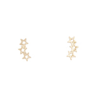 Starline Gold Stud Earrings - link has visual effect only