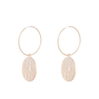 Gold Small Coin Hoop Earring | Earrings | Lovisa Jewellery Australia | Gift Idea Girl