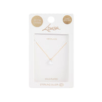 Gold Plated Cubic Zirconia Carat Pendant Necklace - link has visual effect only