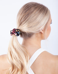 Satin Mixed Floral Scrunchie 3 Pack