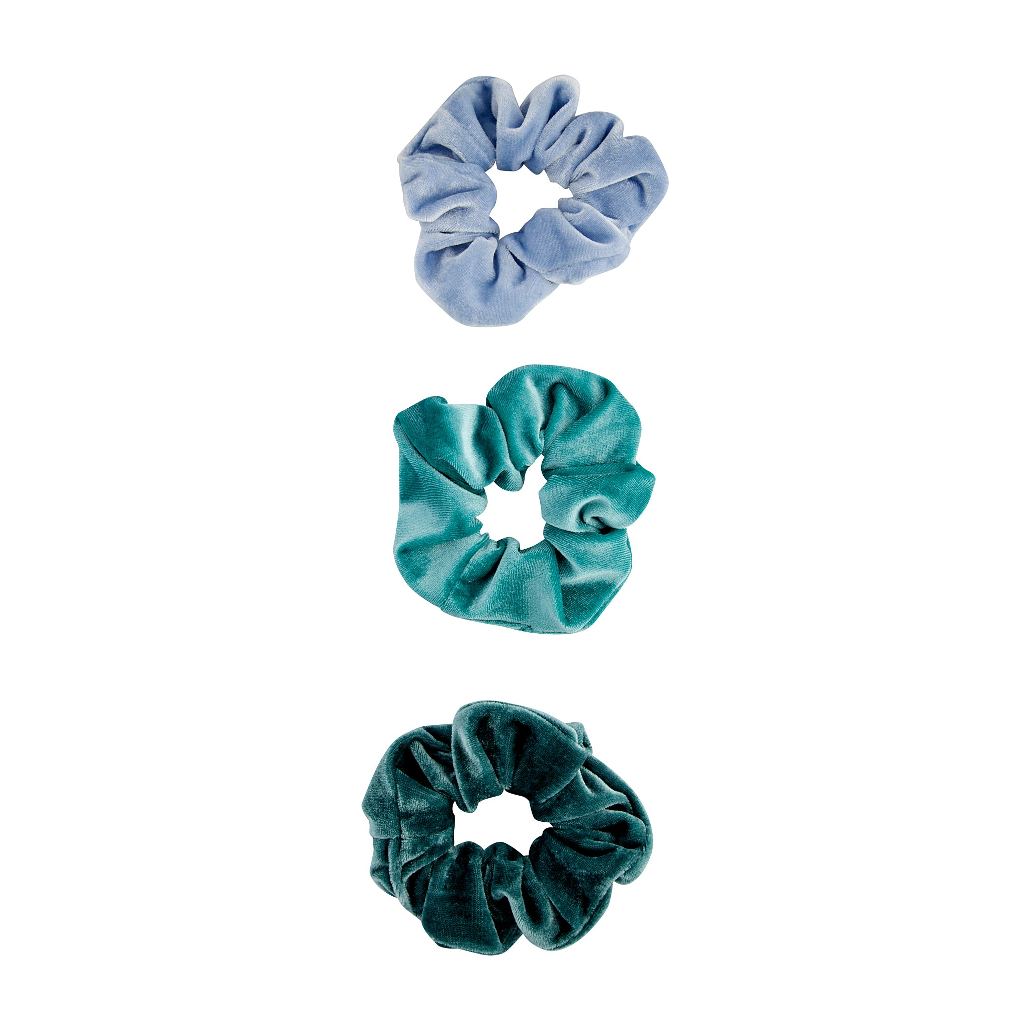 Blue Velvet Scrunchie 3 Pack