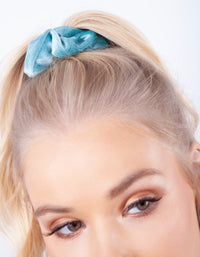 Blue Velvet Scrunchie 3 Pack - link has visual effect only