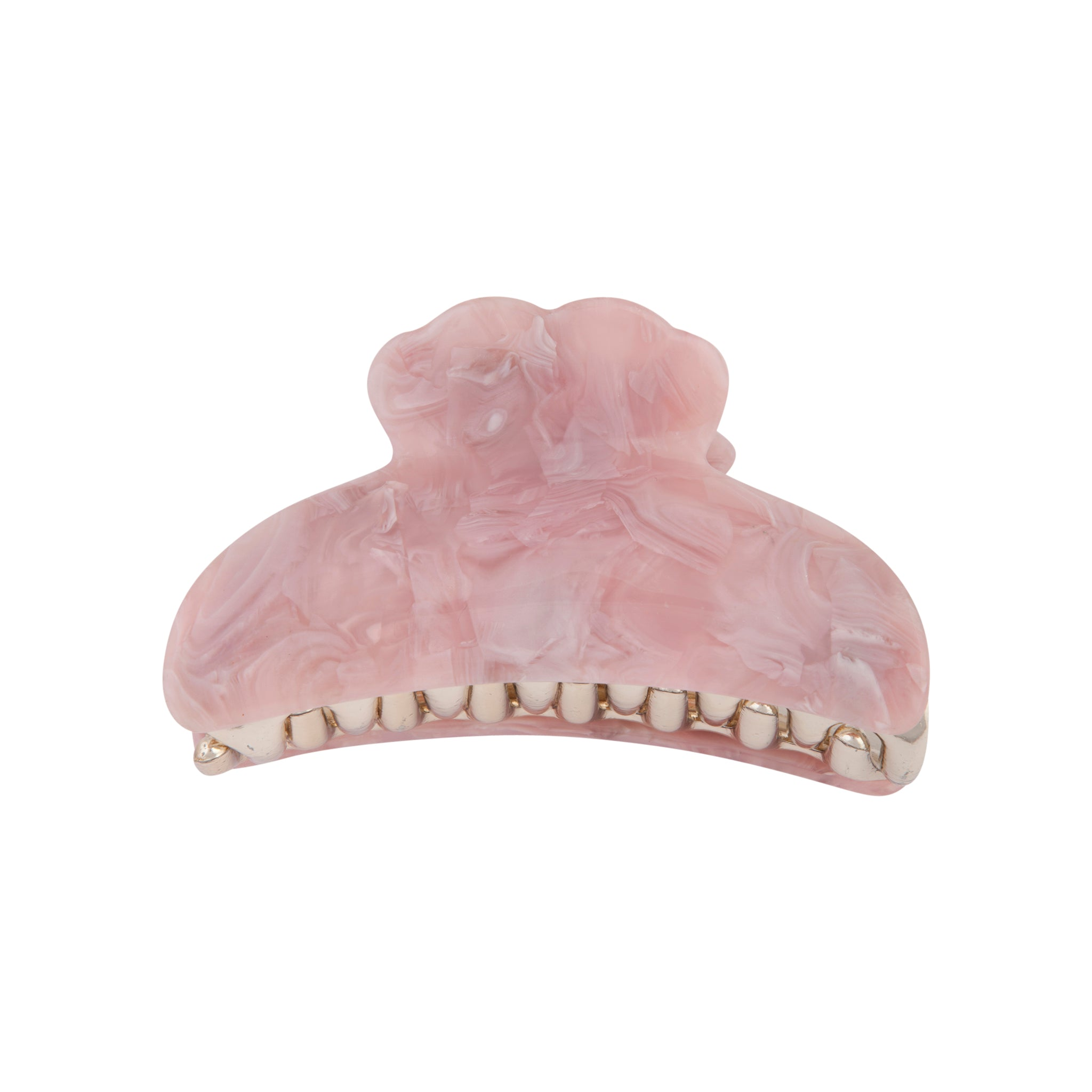 Pink Marble Claw Clip