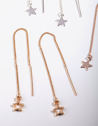 Gold Star Stud Drop Star Earring Pack - link has visual effect only