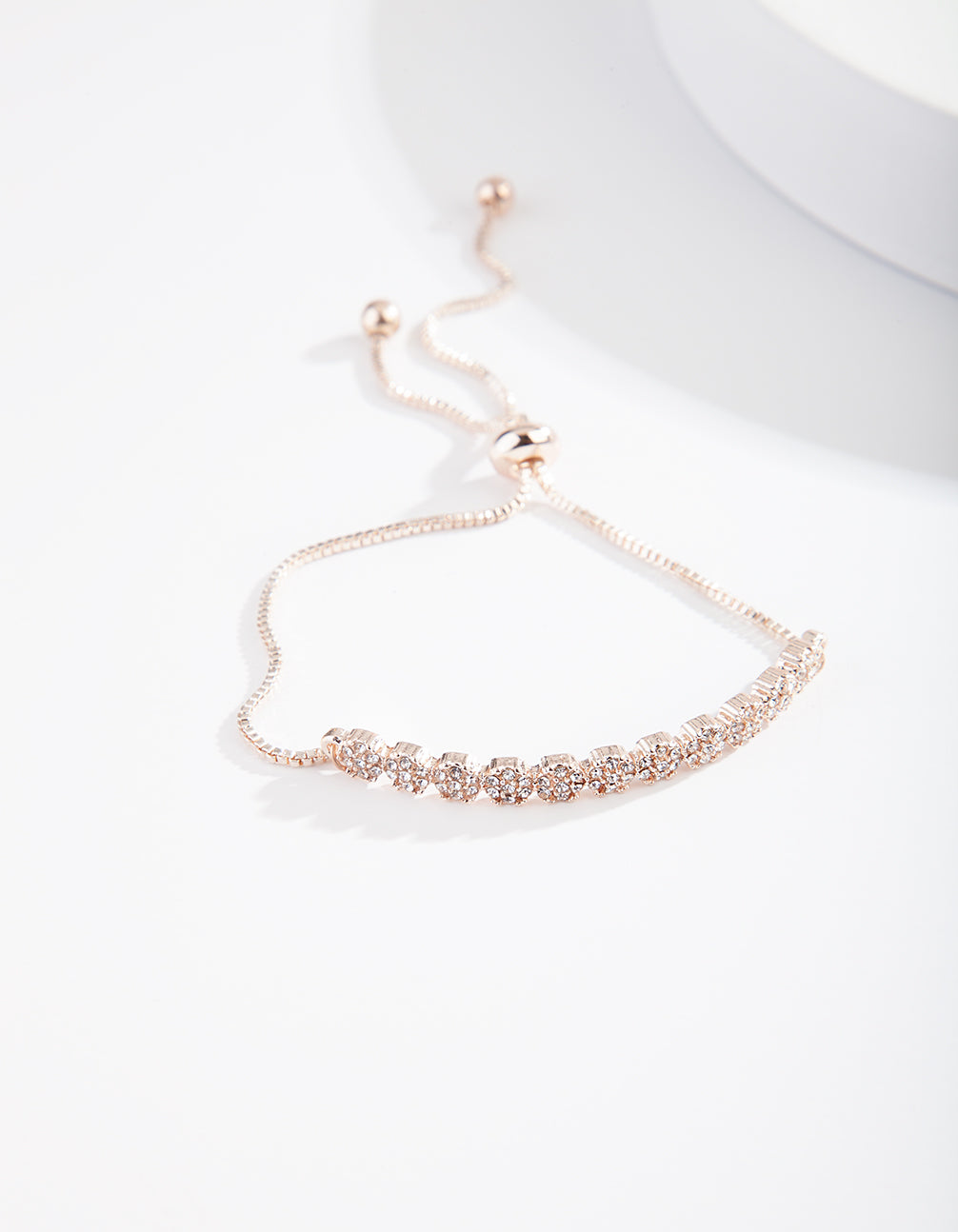 Rose Gold Crystal Toggle Bracelet