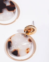 Gold Circle Acrylic Disk Earring - link has visual effect only