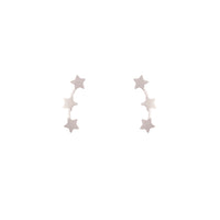 Sterling Silver Star Bar Earring
