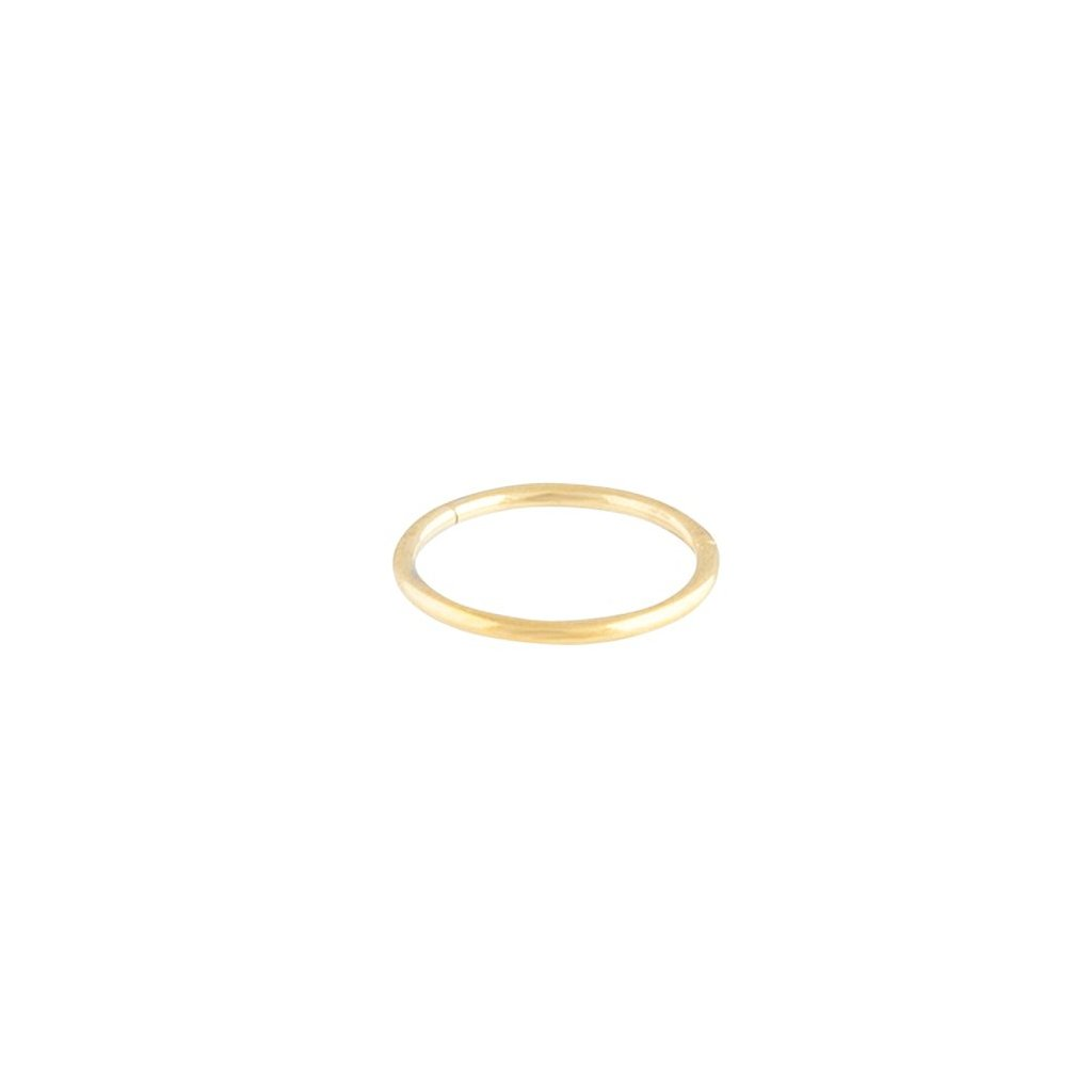Gold Thin Clicker Hoop Earring