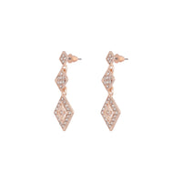 Rose Gold Stone Drop Earring - link has visual effect only