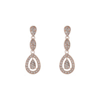 Rose Gold Stone Set Cut Out Earring