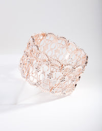 Rose Gold Lace Filigree Bracelet - link has visual effect only