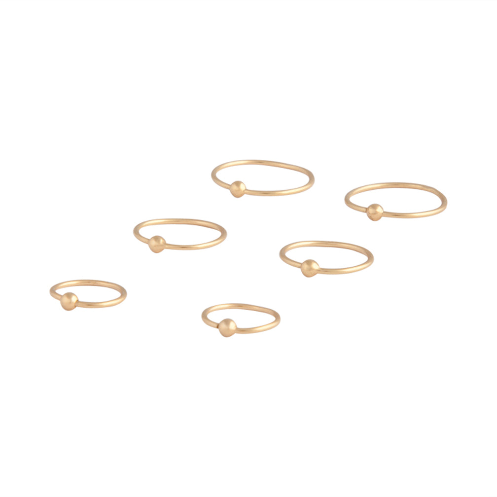 Gold Plated 925 Ss Nose Ring Pack